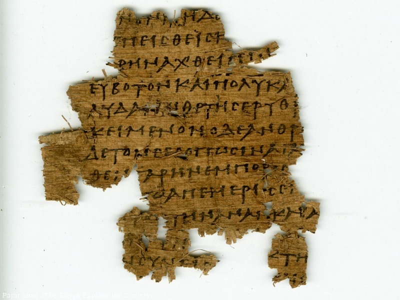 foto Papir antic (The Egypt Exploration Society)